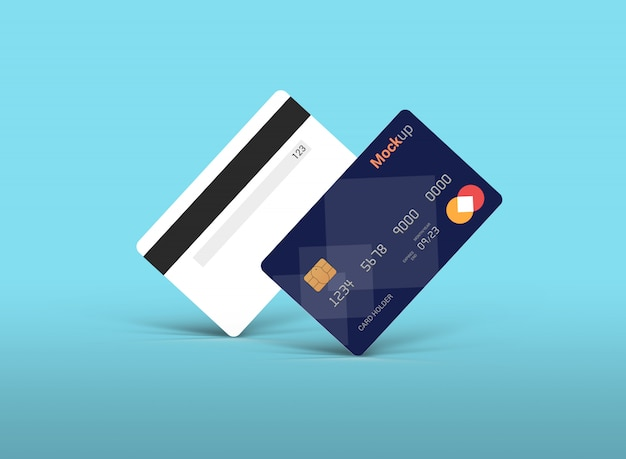 Debitkarte, kreditkarte, smart card mockup
