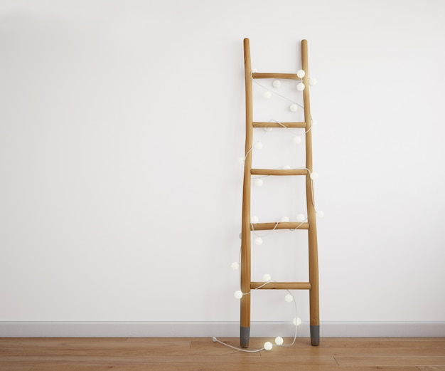 Dekorative treppe mit leichter girlande