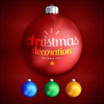 Dekorativer weihnachtsball