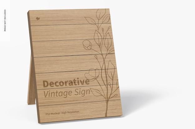 Dekoratives vintage-schild-modell