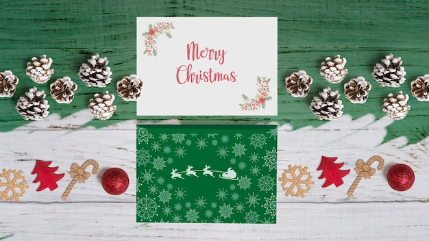 Dekoratives weihnachtskartenmodell