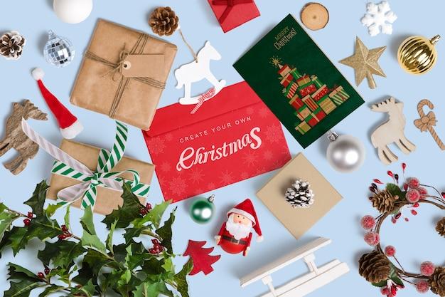 Dekoratives weihnachtsmodell