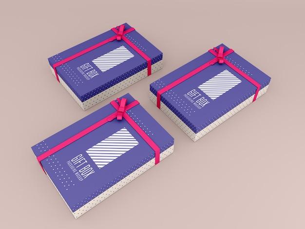 Dekoriertes geschenkbox-modell