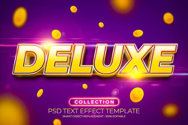 Deluxe-jackpot-texteffekt mit goldmünze