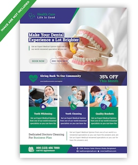 Dental flyer vorlage
