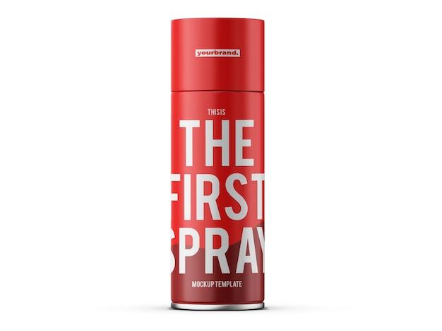 Deodorant spray mockup template
