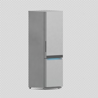 Der isometrische lokalisierte kühlschrank 3d übertragen