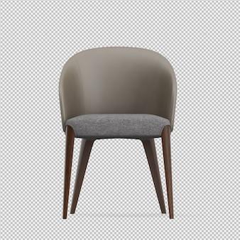 Der isometrische lokalisierte stuhl 3d übertragen