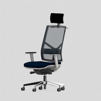 Der lokalisierte bürostuhl 3d übertragen