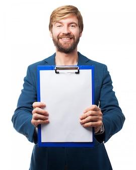 Der mann mit der checkliste
