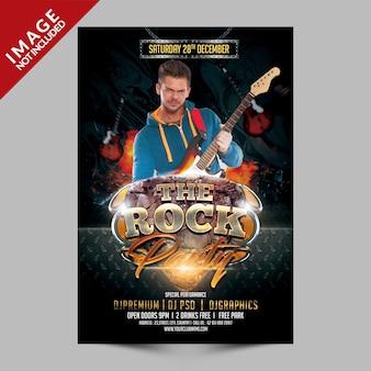 Der rock event flyer