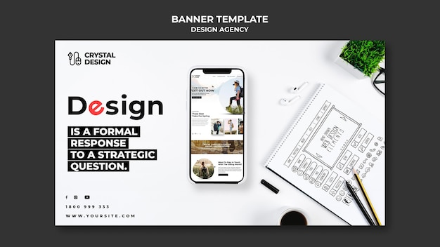 Design agentur banner vorlage