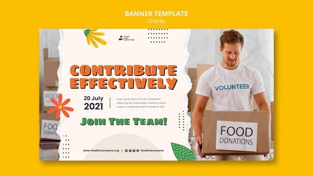 Design-bannervorlage für wohltätigkeitsorganisationen