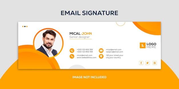 Design der e-mail-signaturvorlage oder e-mail-fußzeile