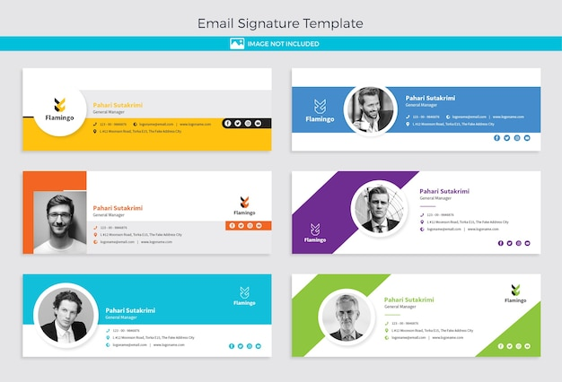 Design der e-mail-signaturvorlage