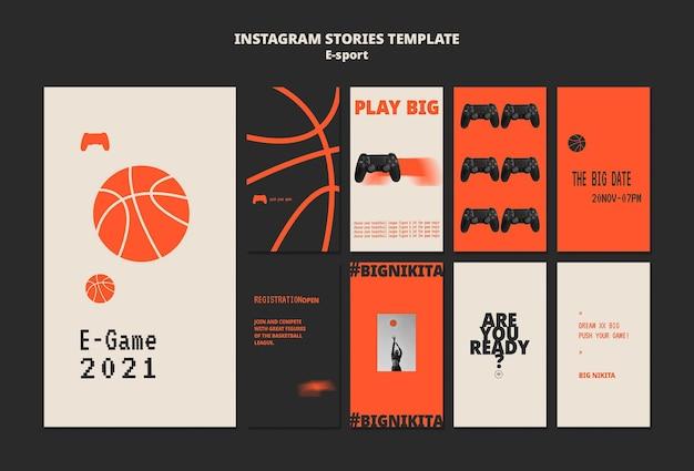 Design der esport-insta-story-vorlage