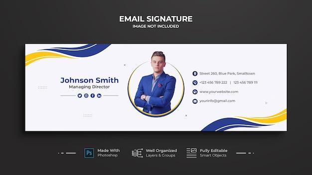 Design der geschäfts-e-mail-signaturvorlage
