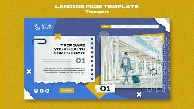 Design der landingpage-transportvorlage