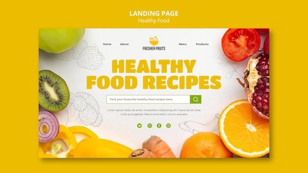 Design der landingpage-vorlage für lebensmittelsicherheit