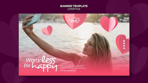 Design der lifestyle-banner-vorlage Kostenlosen PSD