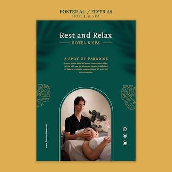 Design der luxus-ferienwohnung-poster-vorlage