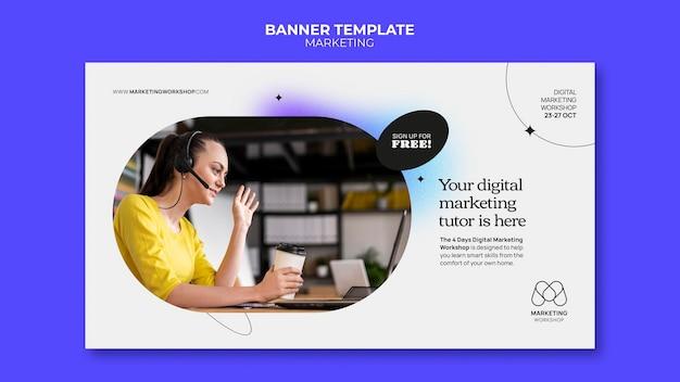 Design der marketing-banner-vorlage