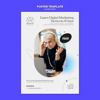 Design der marketingplakat-vorlage