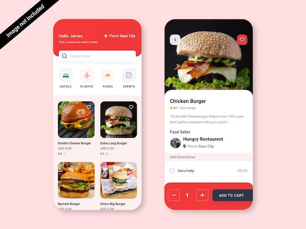 Design der mehrzweck-service-app-benutzeroberfläche