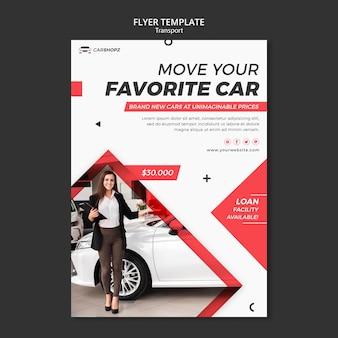 Design der poster-transportschablone