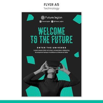 Design der technologie-flyer-vorlage