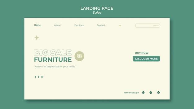 Design der verkaufs-landingpage-vorlage