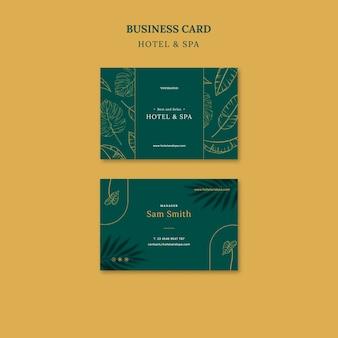 Design der visitenkartenvorlage für luxusferienwohnungen