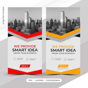 Design der vorlage für business insta-storys