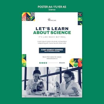 Design der wissenschaftsplakatschablone