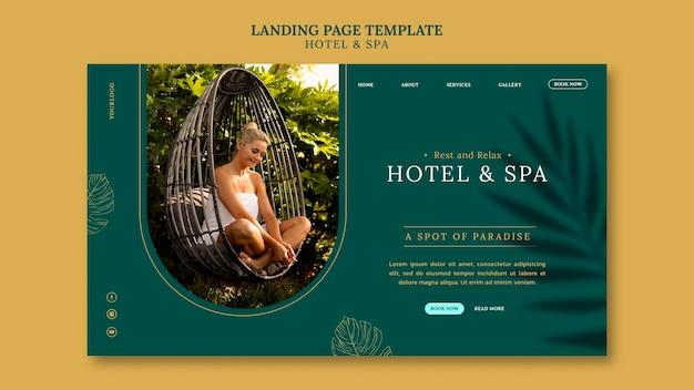 Design der zielseiten-vorlage für luxus-ferienwohnungen
