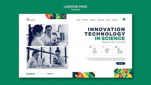 Design der zielseitenvorlage für wissenschaft