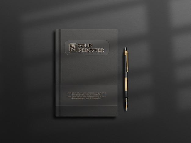 Design des tagebuch-cover-mockups