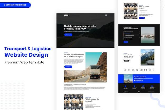 Design & logistik website seite design vorlage vorlage