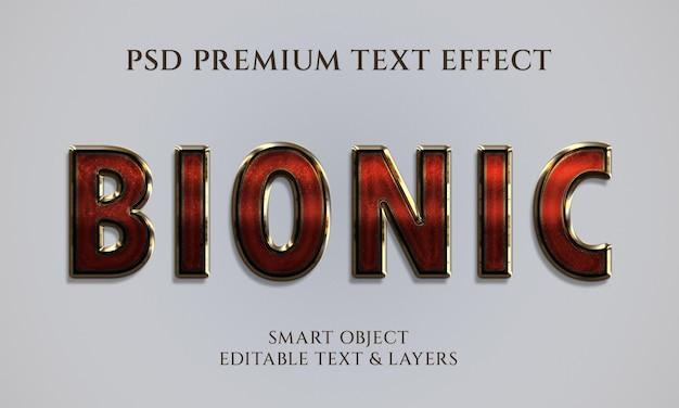 Design mit bionischem texteffekt