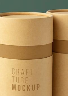 Design-mockup für bastelpapierzylinder