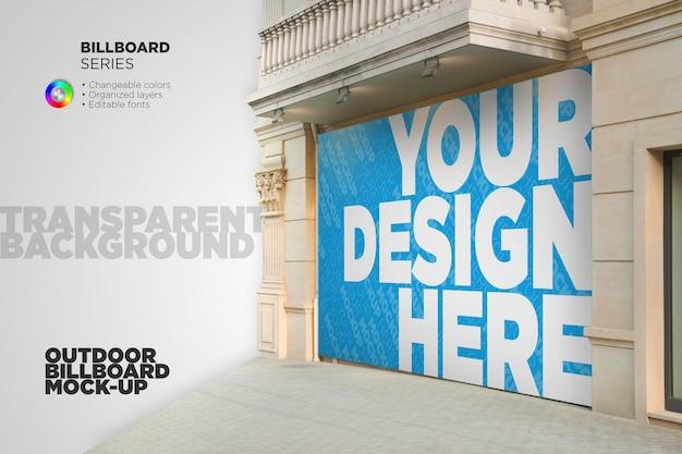 Design-rendering für rechteckige werbetafeln im freien