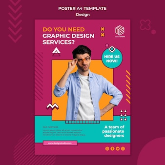 Design studio poster vorlage