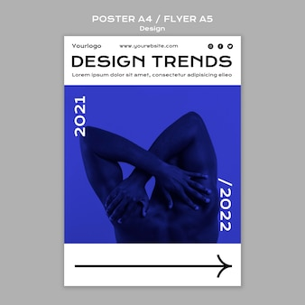 Design trends flyer und poster vorlage