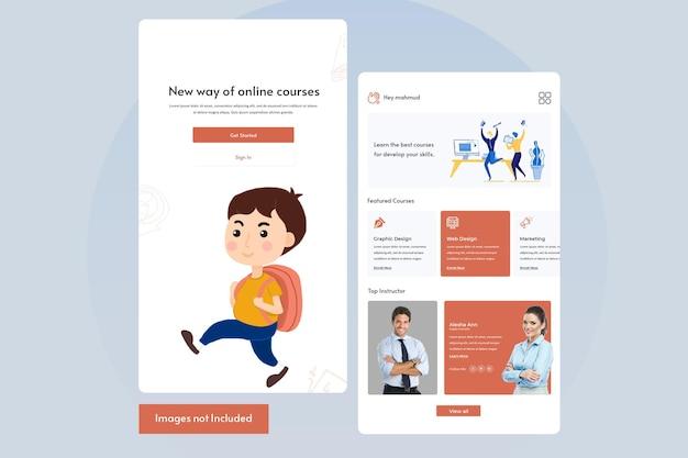 Design von mobilen apps zum online-lernen