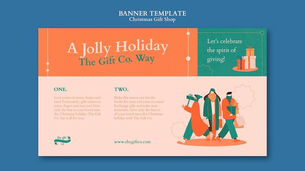 Design-vorlage für weihnachtsgeschenke-shop-banner