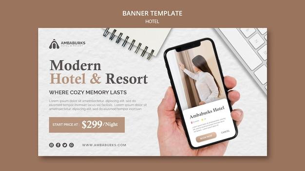Designbanner für hotelvorlagen