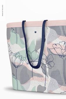 Designer einkaufstasche mockup, nahaufnahme