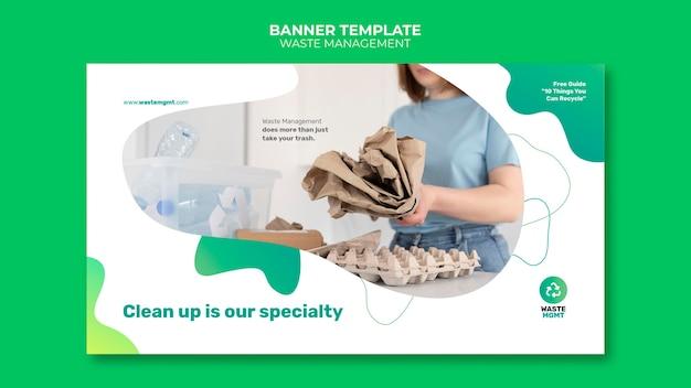 Designvorlage für abfallmanagement-bannerpost
