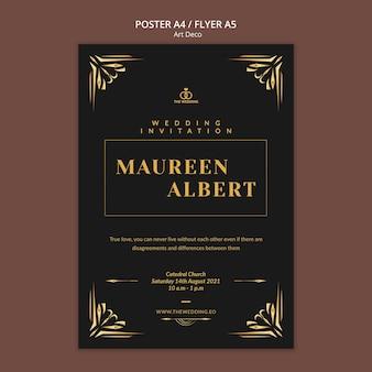 Designvorlage für art-deco-poster