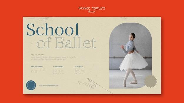 Designvorlage für ballettbanner
